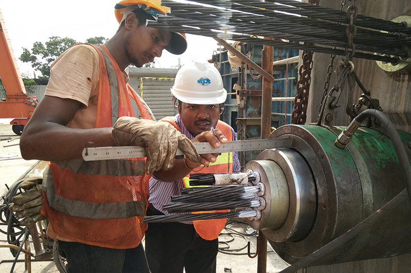 海外工程事业部-斯里兰卡预应力张拉数据测量